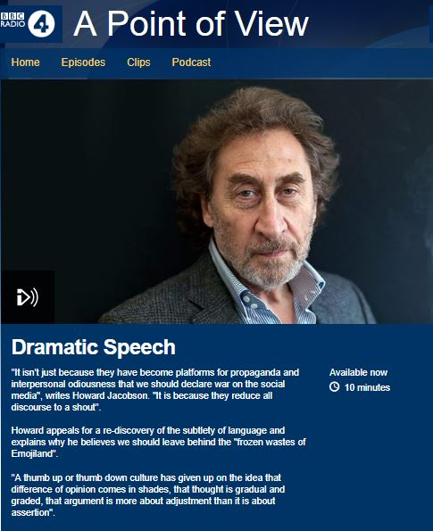 Radio 4 - Dramatic Speech - EmojiLand - Howard Jacobson