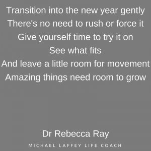 Transition into the new year gently