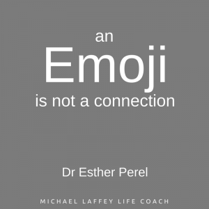 an emoji is not a connection